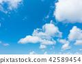 藍天天空背景背景材料 42589454