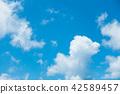 藍天天空背景背景材料 42589457