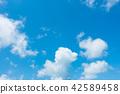 藍天天空背景背景材料 42589458