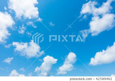 藍天天空背景背景材料 42589462