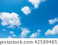 藍天天空背景背景材料 42589465