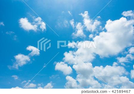 藍天天空背景背景材料 42589467