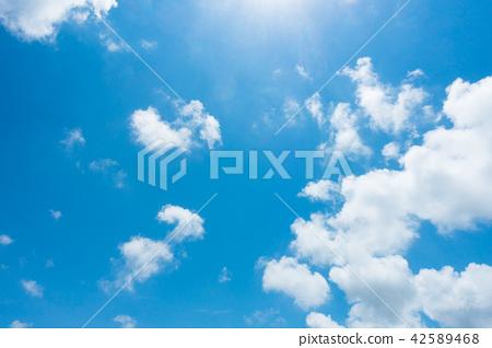 藍天天空背景背景材料 42589468