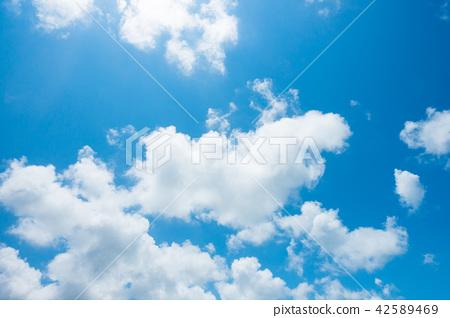 藍天天空背景背景材料 42589469