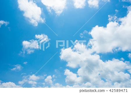 藍天天空背景背景材料 42589471
