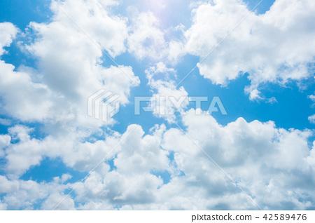 藍天天空背景背景材料 42589476