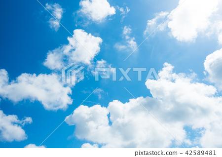 藍天天空背景背景材料 42589481