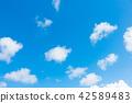 藍天天空背景背景材料 42589483
