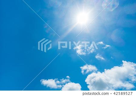 藍天太陽天空背景背景材料 42589527