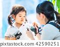 카메라에 관심을 가진 아이 42590251