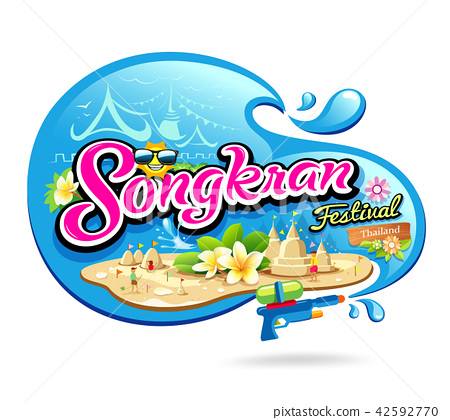 Songkran Festival Period of April in the summer  42592770