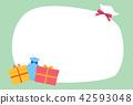 present, greeting, card 42593048