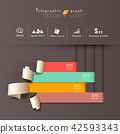 Infographics graph paper roll vertical design 42593343