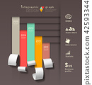 Show colorful paper roll info graphics graph 42593344