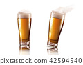 Beer glass with delicious beverage 42594540