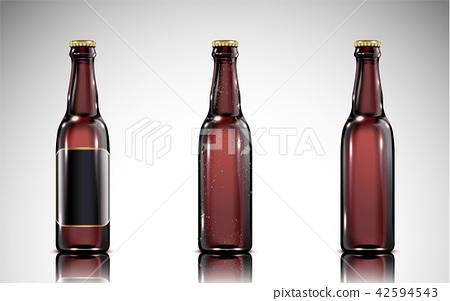 Beer glass bottle mockup 42594543