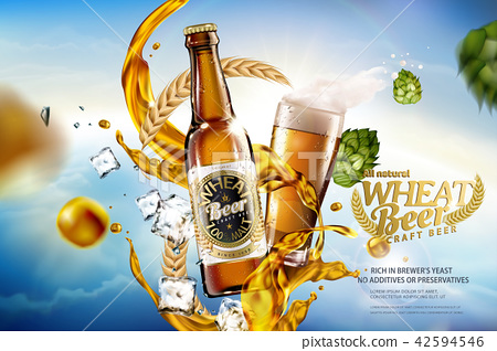 Craft wheat beer ads 42594546