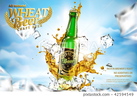 Craft wheat beer ads 42594549