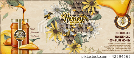 Wild flower honey ads 42594563