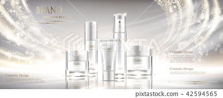 Shiny pearl white cosmetic set 42594565