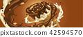 巧克力 奶油的 甜點 42594570