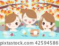 girl hot spring 42594586