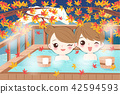 couple enjoy with hot spring 42594593