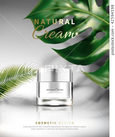 Cosmetic cream jar poster 42594598