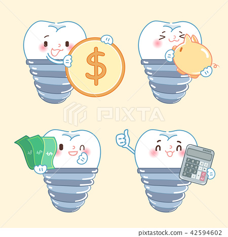 tooth with implant concept 42594602