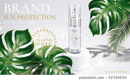 Sunscreen spray bottle ads 42594630