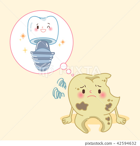 tooth with dental care concept 42594632
