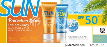 Sunscreen tube ad 42594633