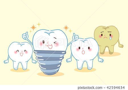 tooth with dental care 42594634