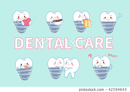 tooth with dental care concept 42594643