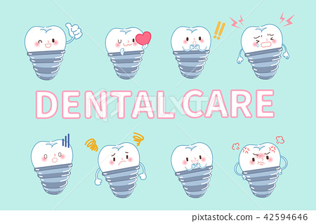 tooth with dental care concept 42594646