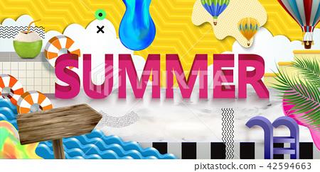 Vivid summer poster 42594663