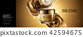 Cream jar with glossy metal rose 42594675