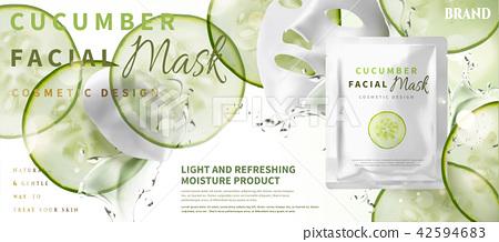 Cucumber facial mask 42594683