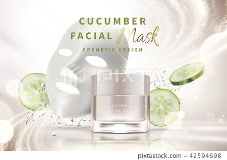 Cucumber facial mask cream 42594698