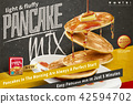 Delicious fluffy pancake ads 42594702