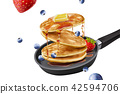 Delicious fluffy pancake 42594706