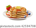 Delicious fluffy pancake 42594708