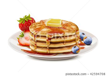Delicious fluffy pancake 42594708
