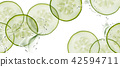 Sliced cucumber background 42594711