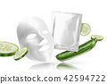 Cucumber facial mask 42594722