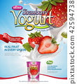 Strawberry yogurt poster 42594738