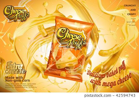 Cheese puffs ads 42594743