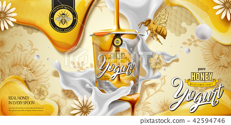 Delicious honey yogurt ad 42594746
