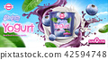 Blueberry yogurt ad 42594748