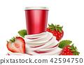 Strawberry ice cream and yogurt 42594750